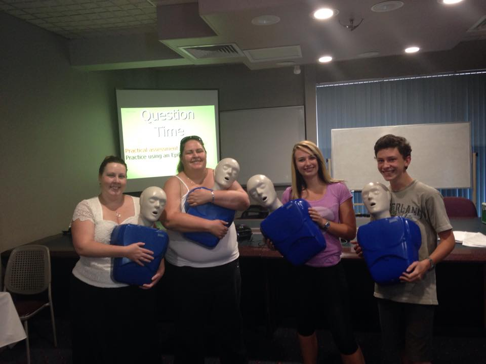 First Aid and CPR Training for our staff