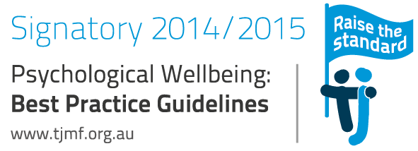 Signatory 2014/2015 Psychological Wellbeing: Best Practice Guildelines