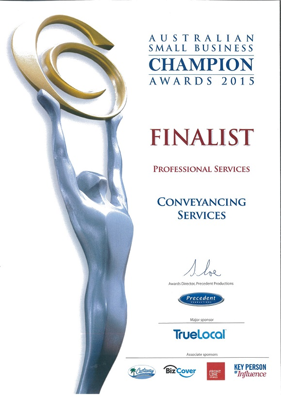 Australian Small Business Champion Awards 2015 Finalist Professional Services