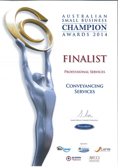 Australian Small Business Champion Awards 2014 Finalist Professional Services